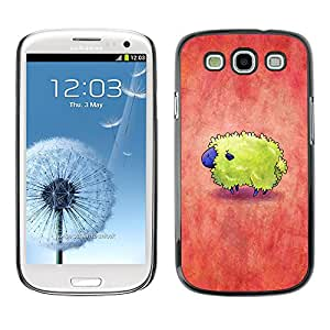 X-ray Impreso colorido protector duro espalda Funda piel de Shell para SAMSUNG Galaxy S3 III / i9300 / i747 - Colorful Red Yellow Cute Tiny