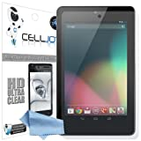 CellJoy ASUS Google Nexus 7 2012 1st Gen Premium High Definition (HD) Ultra Clear (Invisible) Screen Protectors with Lifetime Replacement Warranty [5-Pack] - Retail Packaging