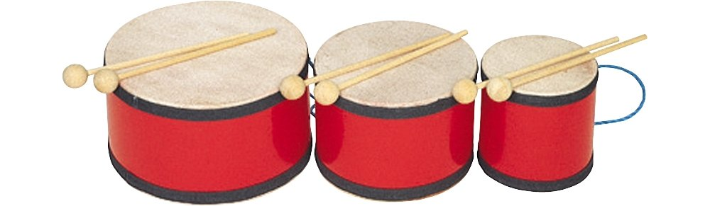 Rhythm Band Indian Tom Tom with Mallets 5x5 RB1013
