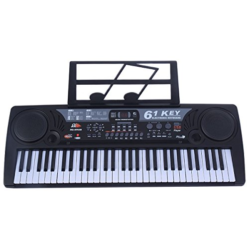 Costzon TY284956–ty 61 Key Digital Electronic Keyboard Piano Beginners Musical with Free Microphone