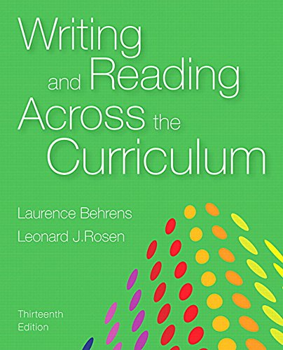 Writing+Reading Across Curriculum