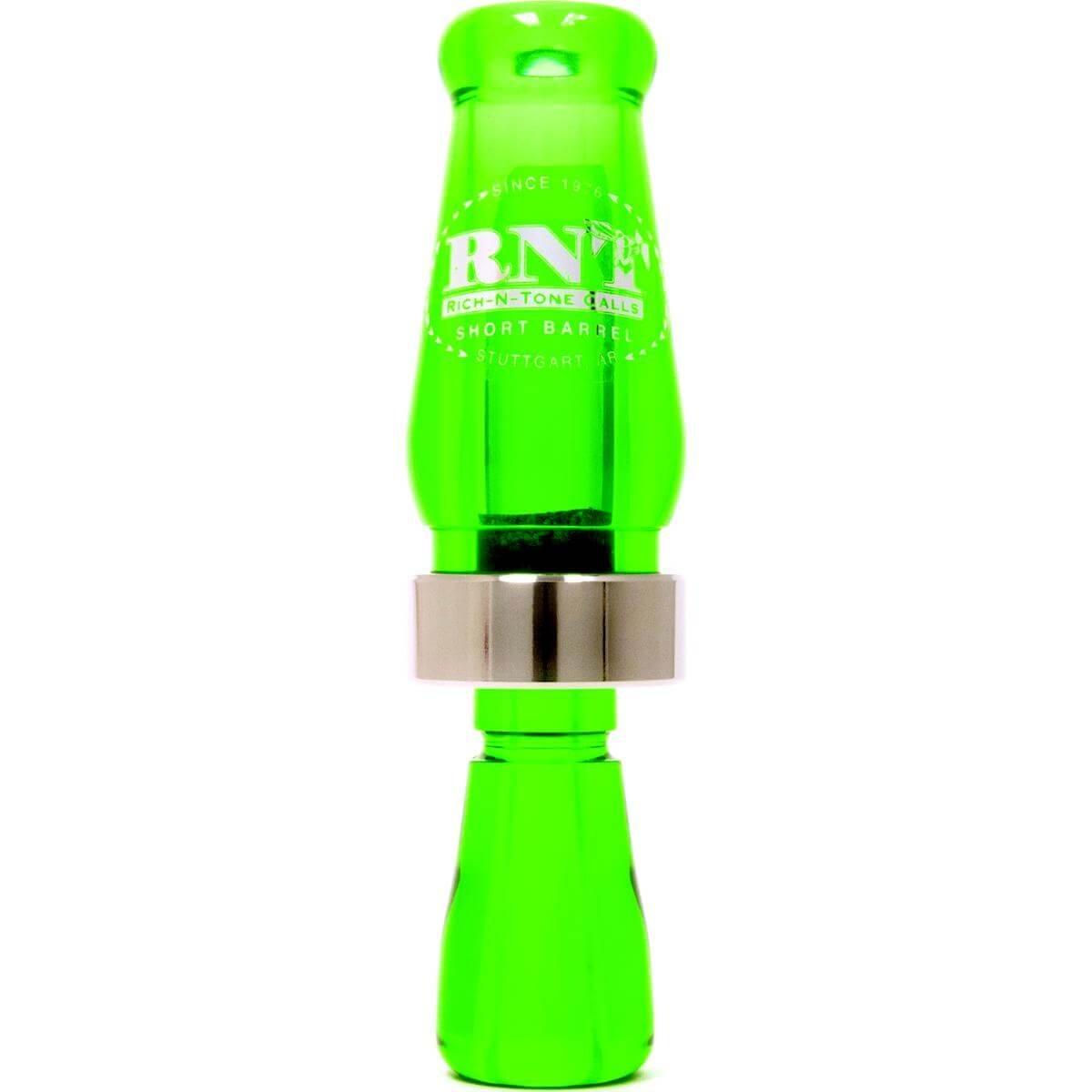 RNT Short Barrel Acrylic Duck Call Kelly Green