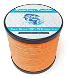 Reaction Tackle Fluoro Orange 200LB 500yd For Sale