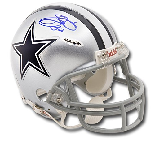 Emmitt Smith Hand Signed - Emmitt Smith Hand Signed Autographed MINI Riddell Helmet Dallas Cowboys UDA