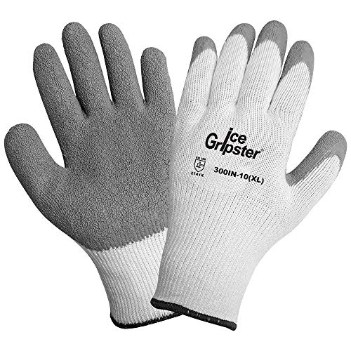 (Global Glove 300IN Ice Gripster Insulated Acrylic Flat Dipped Glove, Work, Medium, Black (Case of 72))