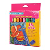 Rotatable Water-Washing Crayon for School Stationery & Office & Home (18 Color)