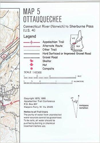 ATC Maps 5 + 6, Ottauquechee and Killington Peak, Appalachian Trail ...