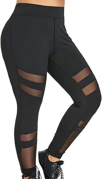 Mallas elásticas de Gran tamaño para Mujer Pantalones de chándal ...