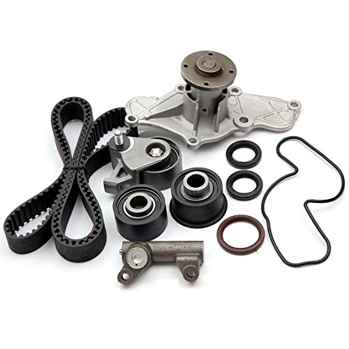 SCITOO TBK214 Fits 95-02 Mazda 626 Millenia MX6 Ford Probe 2.5L 2.5 DOHC KL Timing Belt Kit Water ()