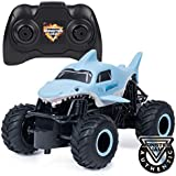 Monster Jam, Official Megalodon Remote Control Monster Truck, 1: 24 Scale, 2.4 Ghz, For Ages 4 & Up