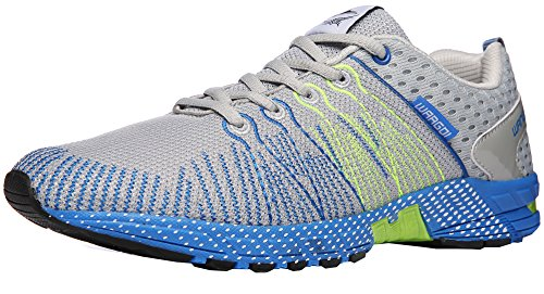 ROMENSI Men's Lightweight Athletic Training Running Shoes Casual Breathable Walking Tennis Sneakers (10.5 D(M) US, Gray)