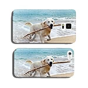 labrador retriever on the beach cell phone cover case Samsung S6