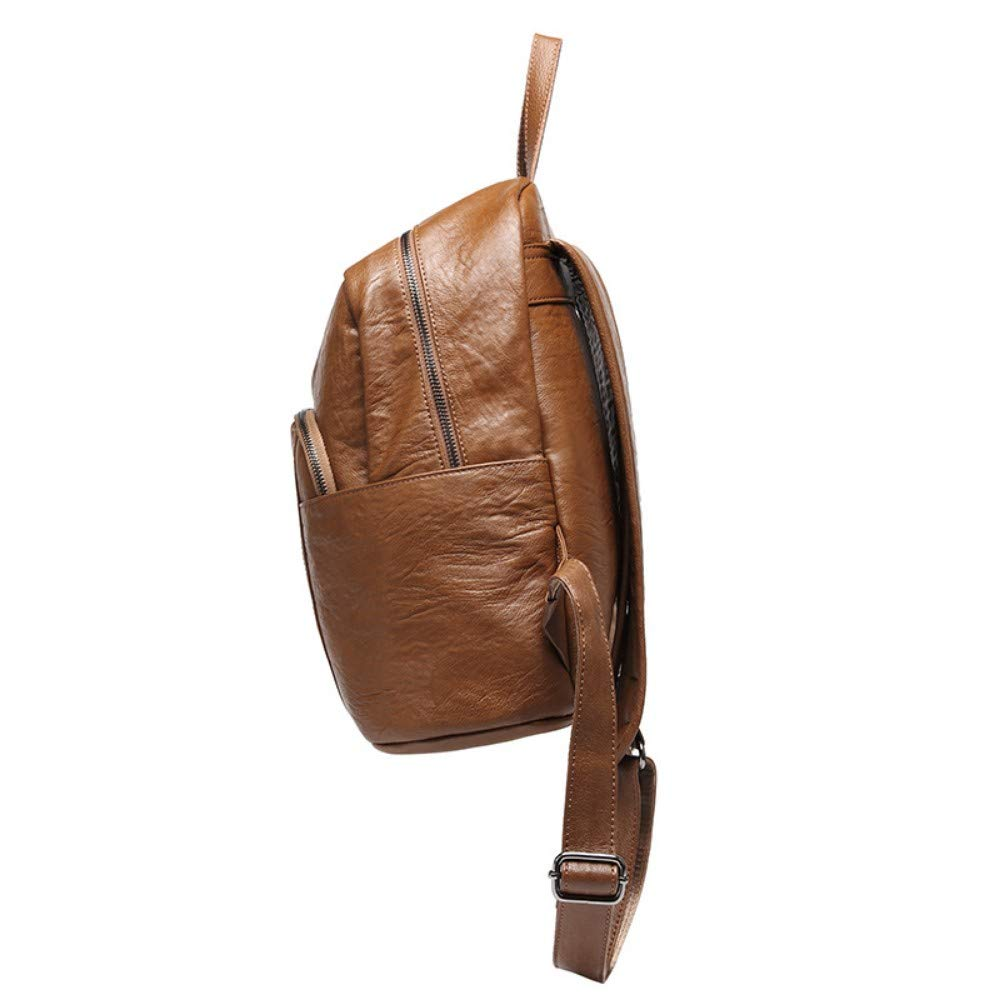 Zlk Backpack Black Backpack Female Wild Soft Leather Backpack Fashion Trend Personality