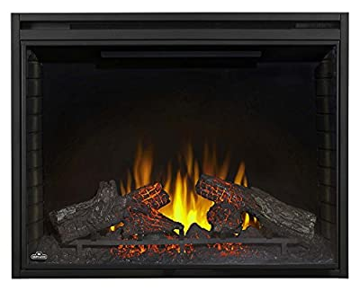 """Napoleon NEFB40H Ascent 40"""" Electric Fireplace with Up to 9000 BTUs Ultra Bright LED Lights NIGHT LIGHTS and Remote Control Included in Powder Coated"""
