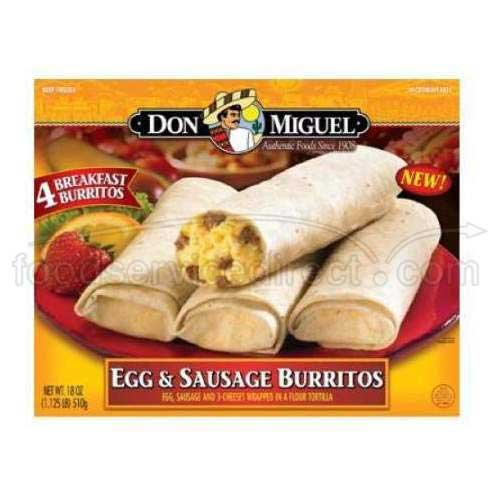 Don Miguel Egg Cheese and Sausage Burrito, 7 Ounce - 12 per case. by Don Miguel