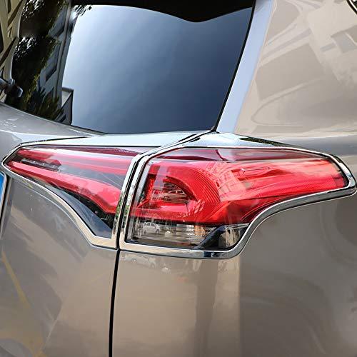 Abs Tail Light - Kadore ABS Chrome Rear Tail Lights Cover Trim Bezels for Toyota RAV4 RAV-4 XLE LE 2018 2017 2016 Outside Accessories 4PCS/Set