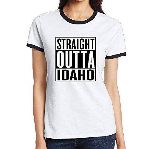 Straight Outta Idaho Womens Raglan Shirts (Shop Bar The Falls Idaho)