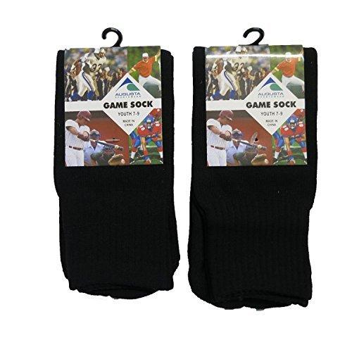 Youth Black Game - Augusta Sportswear Youth Game Socks-Black 7-9