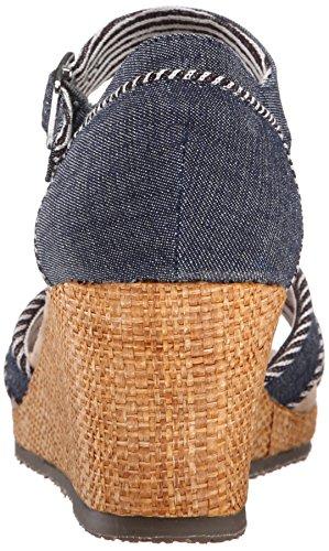 Vestir Para Dunkel Skechers Marineblau Sandalias De Mujer EqB77Znpwv