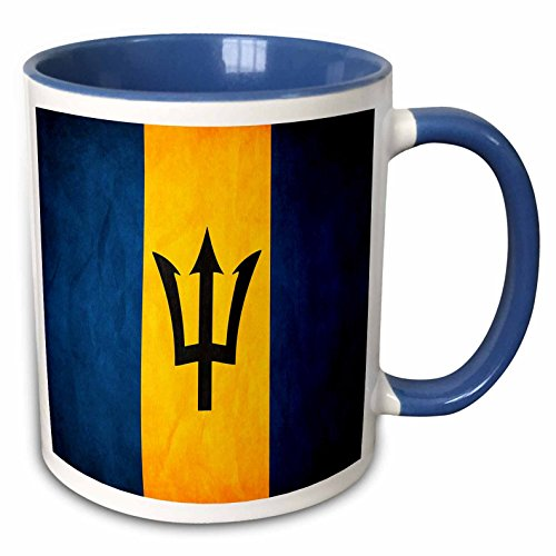 - 3dRose 28225_6 Barbados Flag Mug, 11 oz, Multicolor