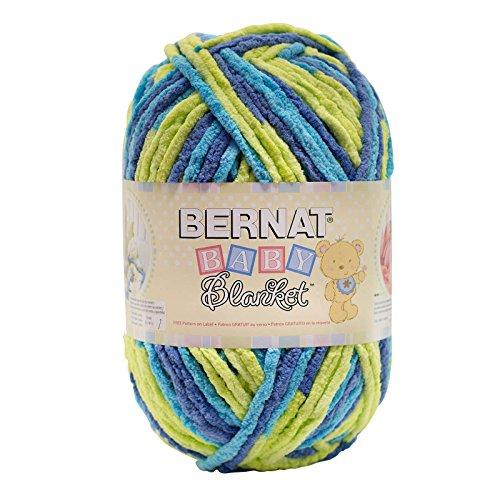 Bernat  Baby Blanket Yarn - (6) Super Bulky Gauge  - 10.5 oz -  Handsome Guy  - Single Ball  Machine Wash & - Big Guys For Shades