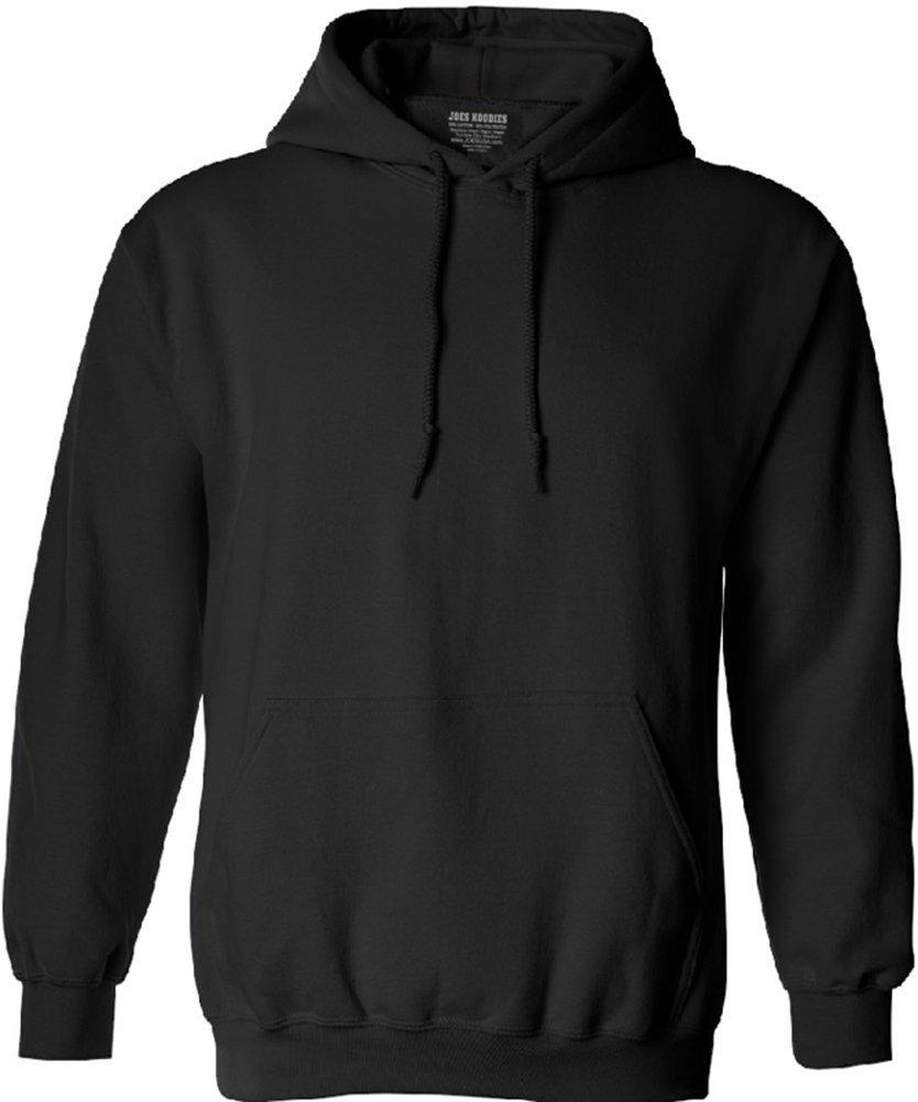 Joe's USA tm Hoodies Soft & Cozy Hooded Sweatshirt,2X-Large-Black