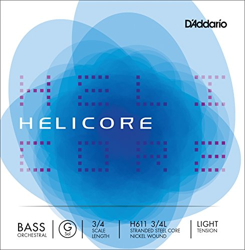 D'Addario Helicore Orchestral Bass Single G String, 3/4 Scale, Light Tension