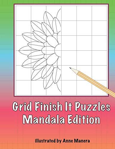 Grid Finish It Puzzles Mandala Edition