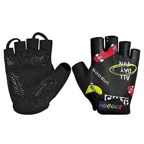 iwish kids bikes Outdoor road bike half finger Cycling Bicycle Gloves fits Boys Girls accessories Toddler for Ages 2-10…