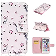 iPhone 6/6S Case, iPhone 6/6S Case Wallet,Kmety Premium PU Leather Flip Carrying Magnetic Closure Protective Shell Wallet Case Cover for iPhone 6 / 6S (4.7) with Kickstand Stand