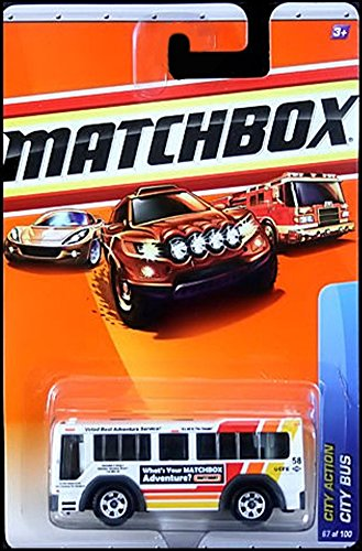 CITY BUS City Action Series (#10 of 15) MATCHBOX 2010 Basic Die-Cast Vehicle (#67 of 100)