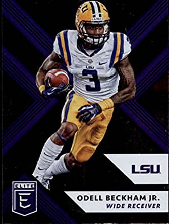 the latest 072c9 78ce0 Amazon.com: 2018 Panini Elite Draft Picks #77 Odell Beckham ...