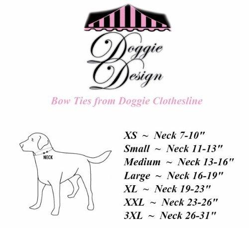 Formal Black Dog Bow Tie (XXL: Neck 23-26'')