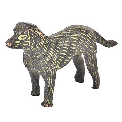 (Indianshelf Handmade Brass Dog Figurine with Patina Statues Decoration Designer Vintage Statement Pieces Online)