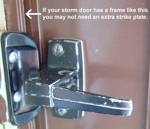 Beau Storm Door Strike Kit For Inside Handle Or Deadbolt Assembly     Amazon.com