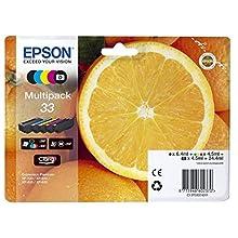Epson C13T33374020 - Cartucho de tinta multipack, color cian, Ya disponible en Amazon Dash Replenishment