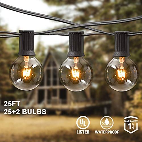 Outdoor Patio Clear Globe String Lights in US - 9