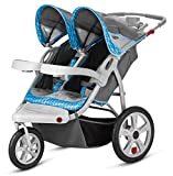 InStep Safari Double Swivel Wheel Stroller, Blue/Grey