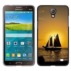 EJOY---Cubierta de la caja de protección para la piel dura ** Samsung Galaxy Mega 2 ** --Puesta del sol del barco Beautiful Nature 10