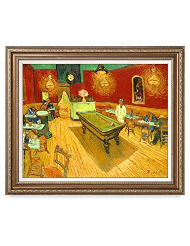 - DECORARTS - The Night Cafe in The Place Lamartine in Arles, Vincent Van Gogh Art Reproduction. Giclee Print& Framed Art for Wall Decor. 30x24, Framed Size: 35x29
