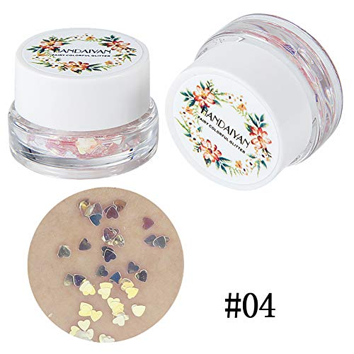 Glitter Sequins Gel Face Hair and Body Kit,Christmas Halloween Festival Beauty Makeup Decoration Shiny Eyeshadow Gel Cream