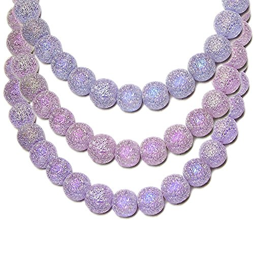 STARDUST GLASS BEADS ROUND 5-6mm ALEXANDRITE color changing 16 inch strand SPECIAL