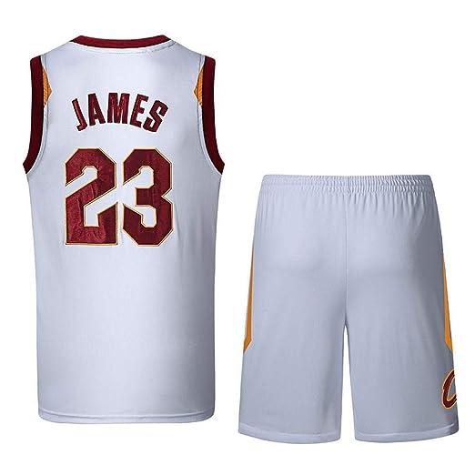 ZXQW NBA Baloncesto Uniformes Lebron James #23 Tela Bordada ...