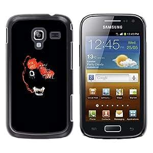 LECELL--Funda protectora / Cubierta / Piel For Samsung Galaxy Ace 2 -- RESUMEN DE LOS ANIMALES DE LA CARA OSCURA DEL LOBO --
