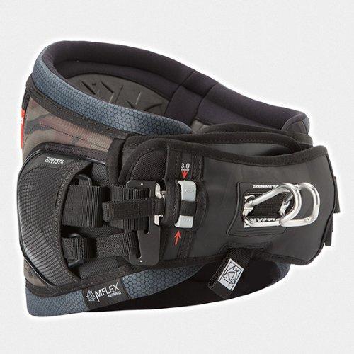 "2014 Mystic Warrior Waist Harness Bundled with WBK Kitesurfing Key Fob Kiteboarding (Color: Army / Camo) (Large [34""-36""])"