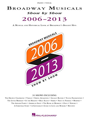 (Hal Leonard Broadway Musicals Show By Show 2006-2013 Piano/Vocal/Guitar)