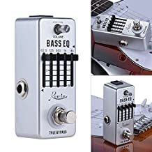 Andoer Rowin Bass Guitar Equalizer Effect Pedal 5-Band EQ Aluminum Alloy Body True Bypass