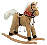Charm Company Blonde Horse Rocker Moving Mouth & Tail Ride On