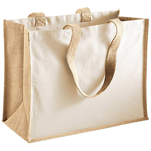 Classic Natural Jute - Westford Mill Printers Jute Classic Shopping Bag - 5 Colours Available - Natural