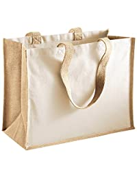 Westford Mill Printers Jute Classic Shopping Bag - 5 Colours Available - Natural
